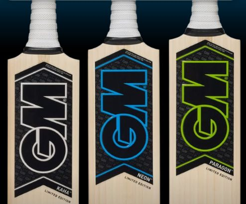 GM Cricket Bat Blade Sizes